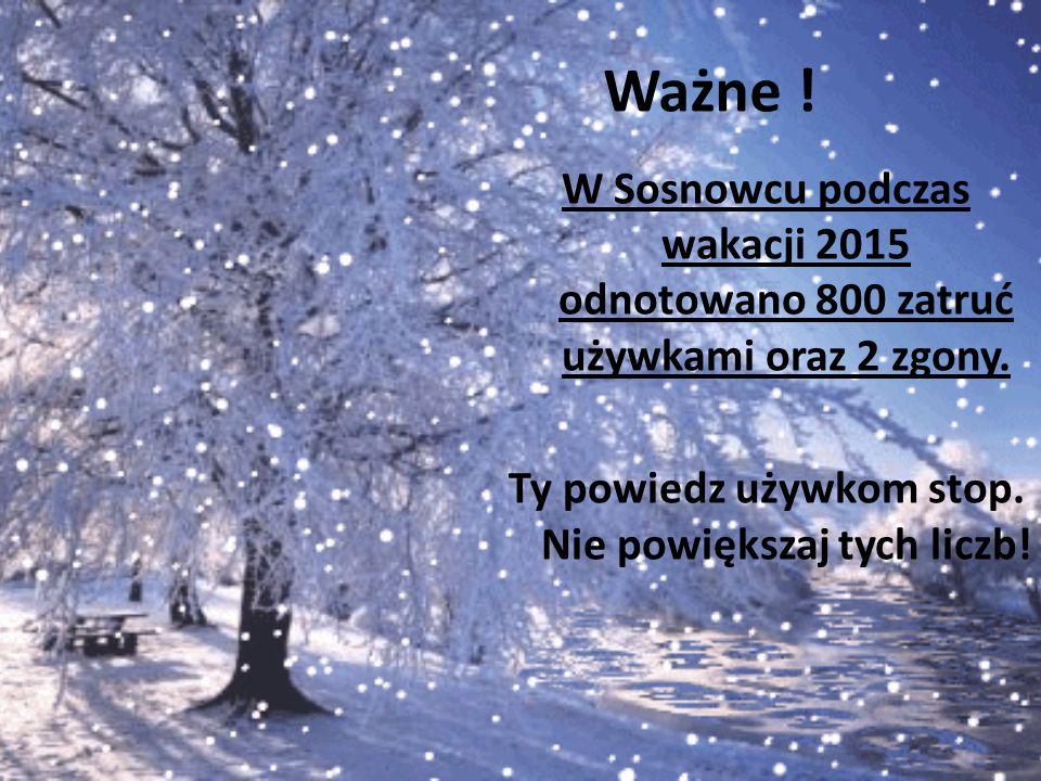 Ważne . W Sosnowcu podczas wakacji 2015 odnotowano 800 zatruć używkami oraz 2 zgony.