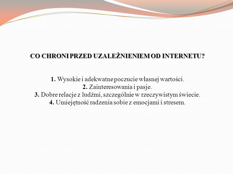 CO CHRONI PRZED UZALEŻNIENIEM OD INTERNETU. 1