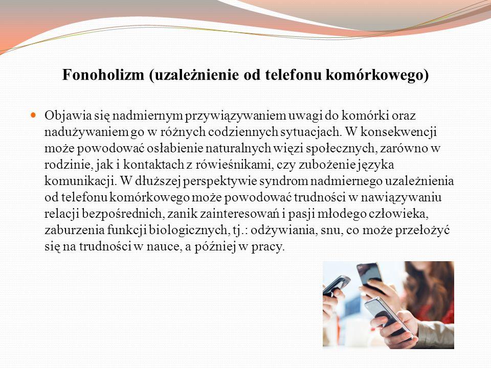 Fonoholizm (uzależnienie od telefonu komórkowego)