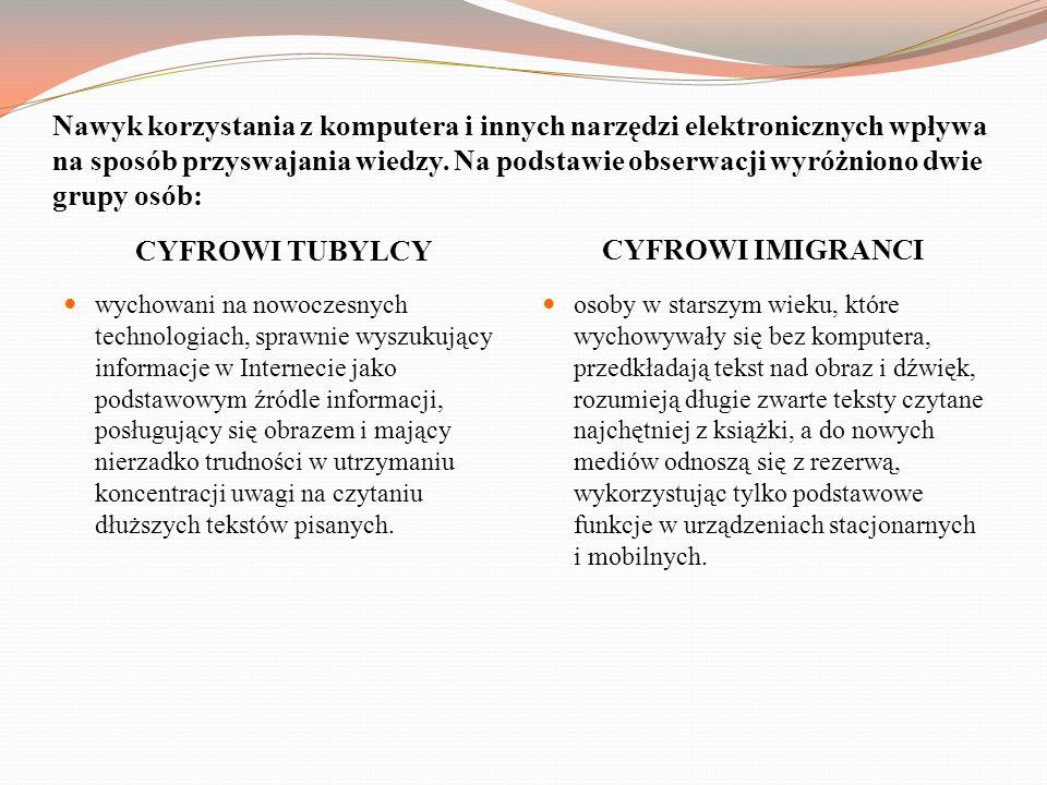 CYFROWI TUBYLCY CYFROWI IMIGRANCI