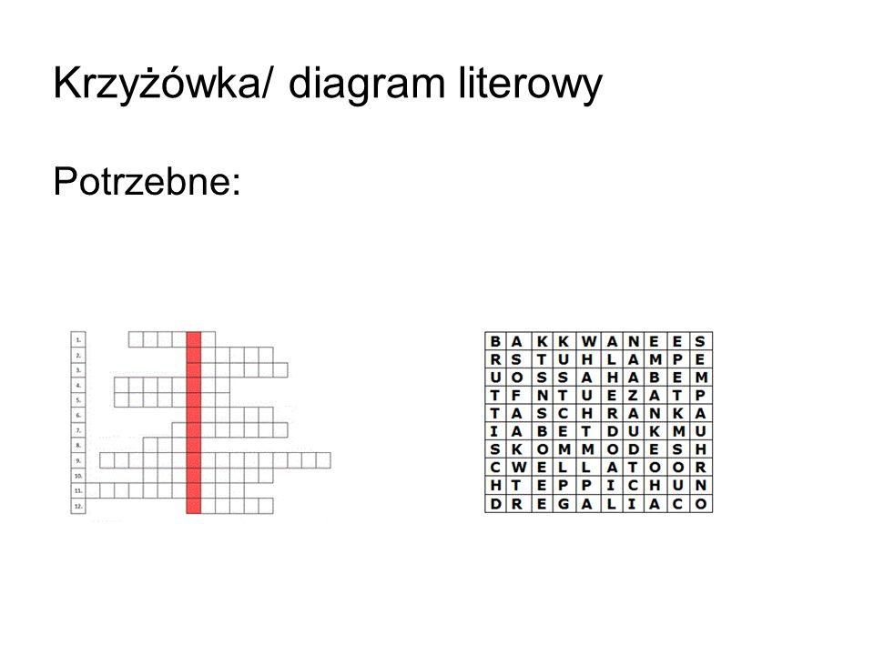 Krzyżówka/ diagram literowy