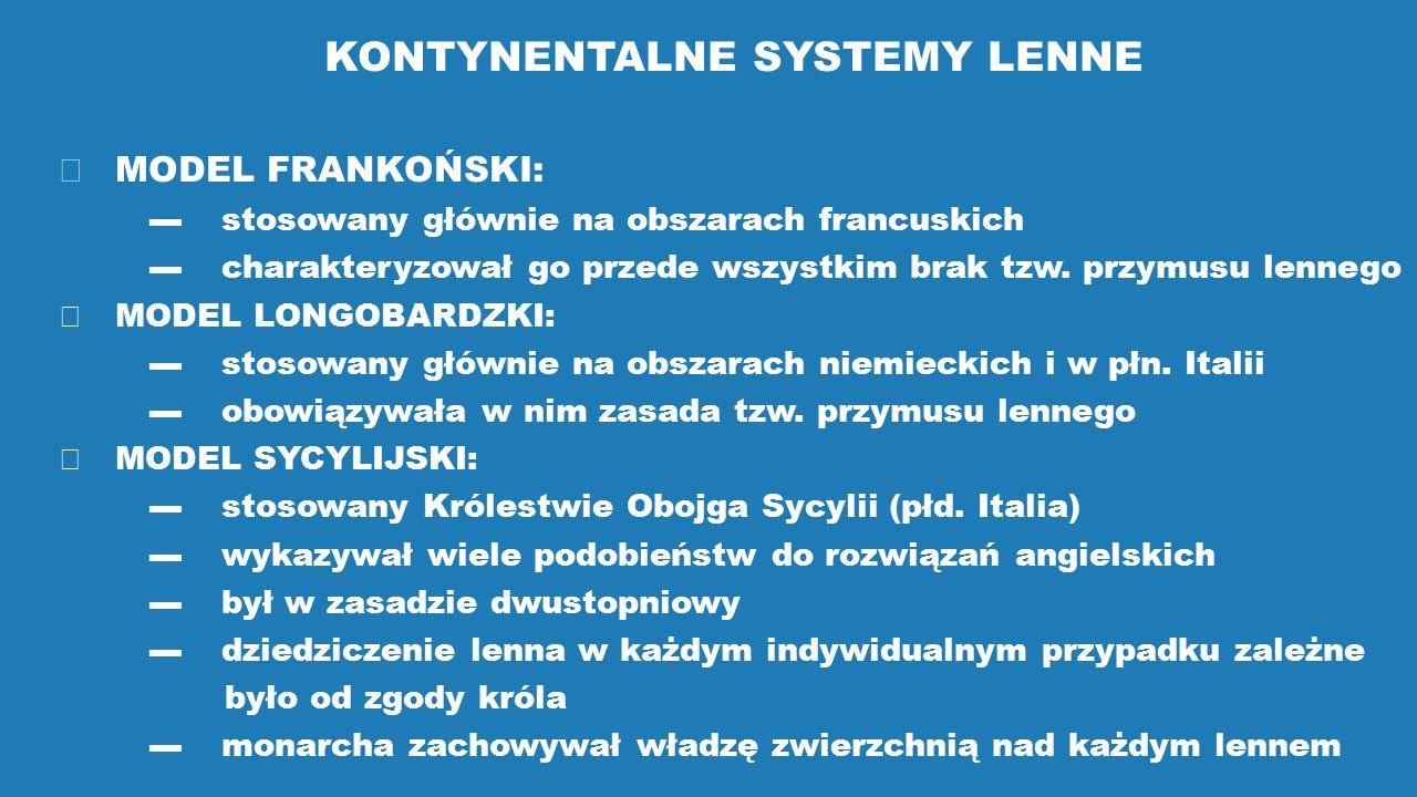KONTYNENTALNE SYSTEMY LENNE