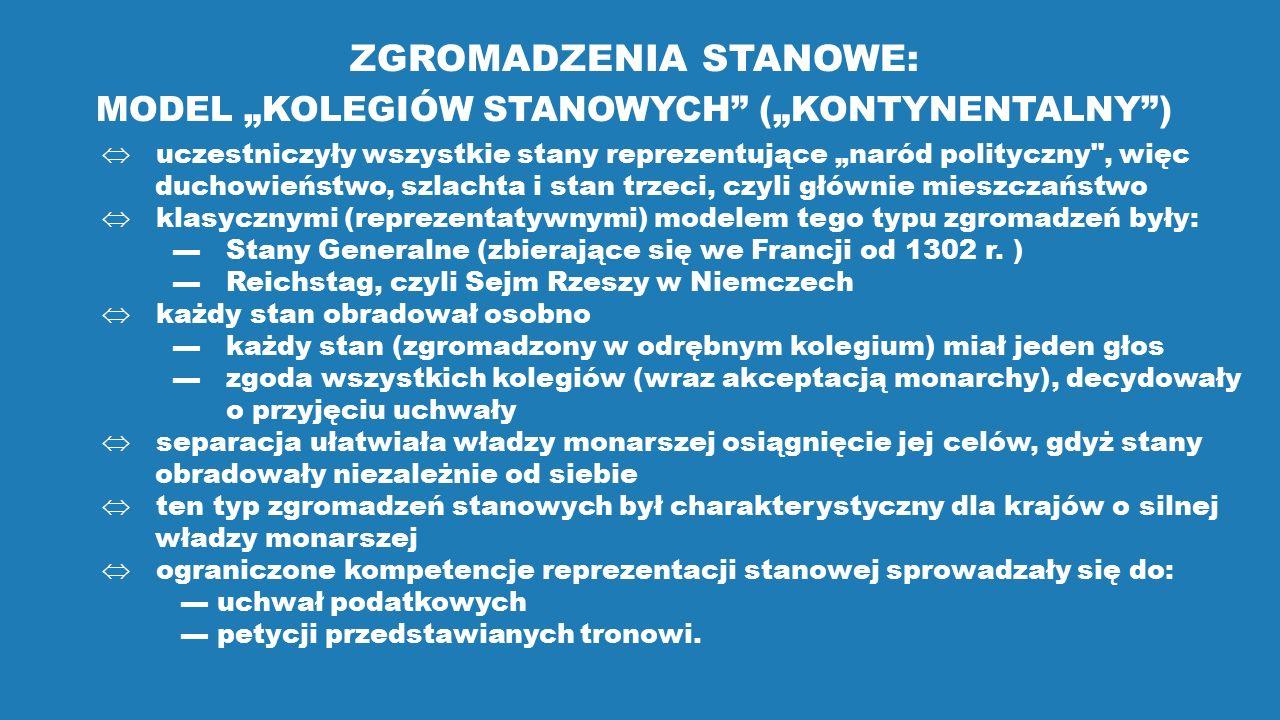 """MODEL """"KOLEGIÓW STANOWYCH (""""KONTYNENTALNY )"""
