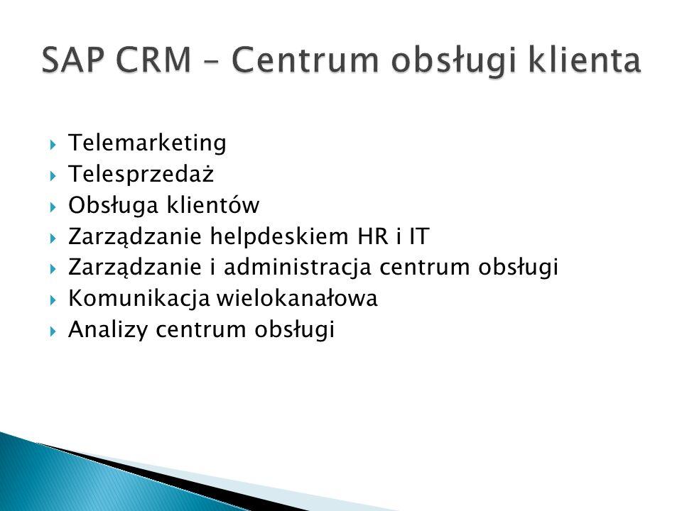 SAP CRM – Centrum obsługi klienta