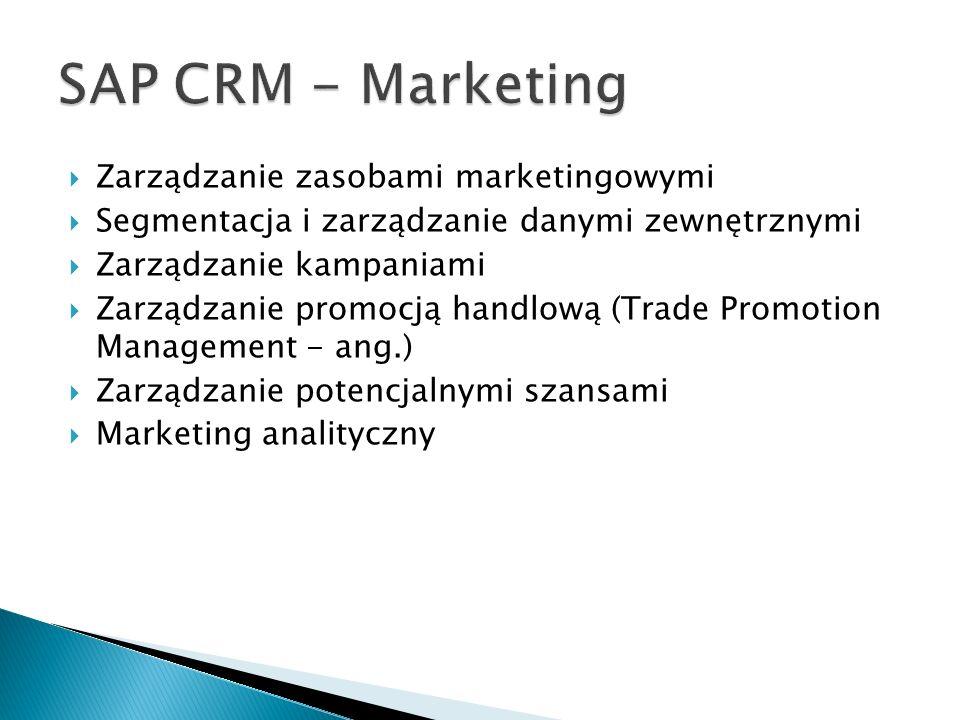 SAP CRM - Marketing Zarządzanie zasobami marketingowymi