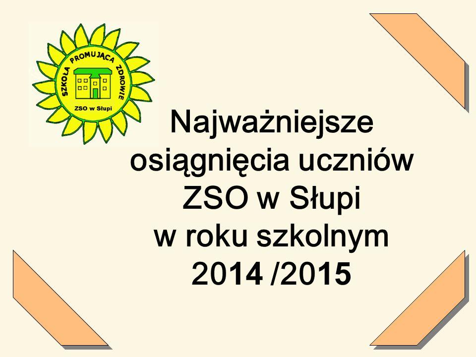 Najważniejsze osiągnięcia uczniów ZSO w Słupi w roku szkolnym 2014 /2015