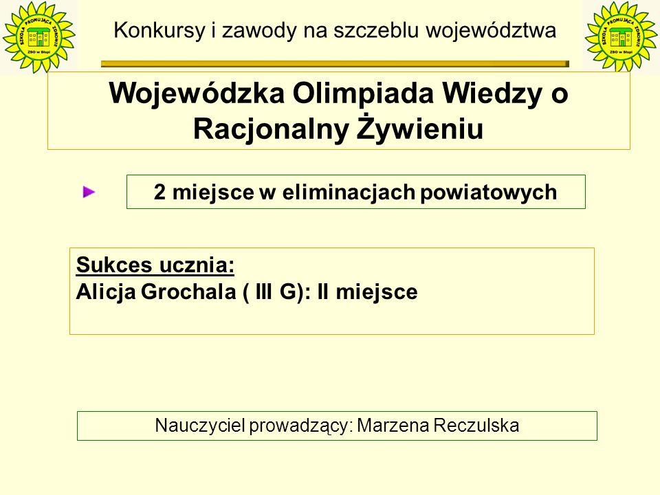 Konkursy i zawody na szczeblu województwa