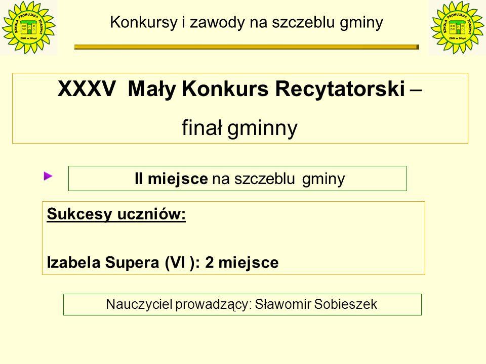 Konkursy i zawody na szczeblu gminy