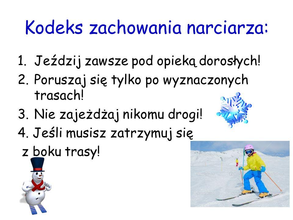 Kodeks zachowania narciarza: