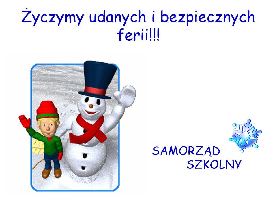 Życzymy udanych i bezpiecznych ferii!!!
