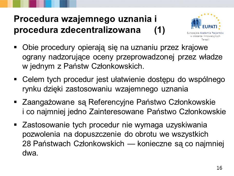 Procedura wzajemnego uznania i procedura zdecentralizowana (1)