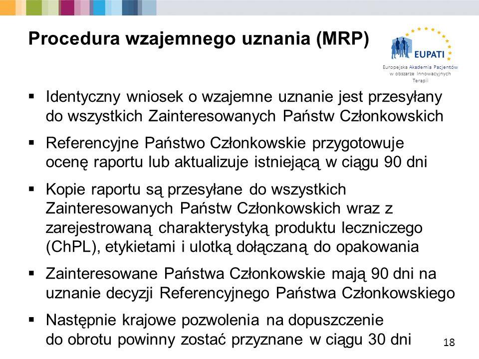 Procedura wzajemnego uznania (MRP)