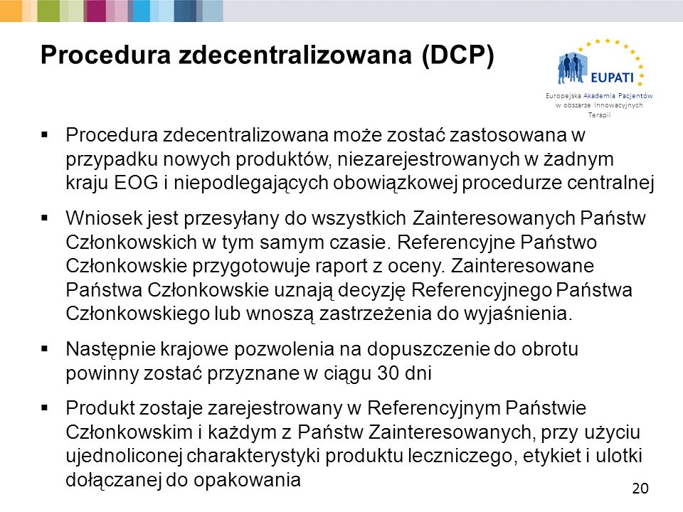 Procedura zdecentralizowana (DCP)