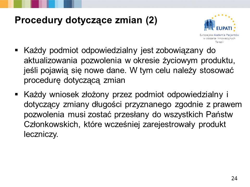 Procedury dotyczące zmian (2)