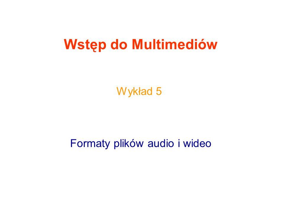 Formaty plików audio i wideo