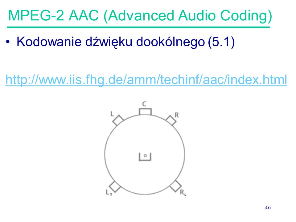 MPEG-2 AAC (Advanced Audio Coding)