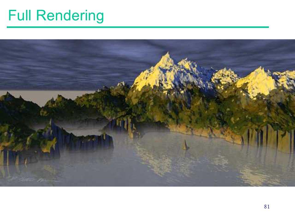 Full Rendering