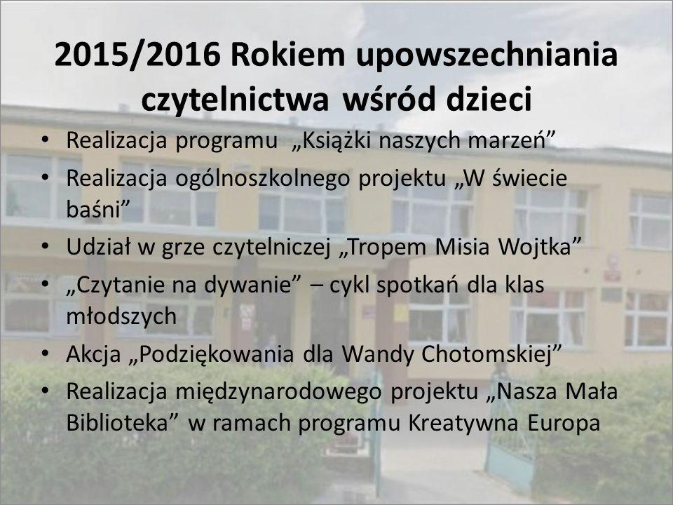 2015/2016 Rokiem upowszechniania czytelnictwa wśród dzieci