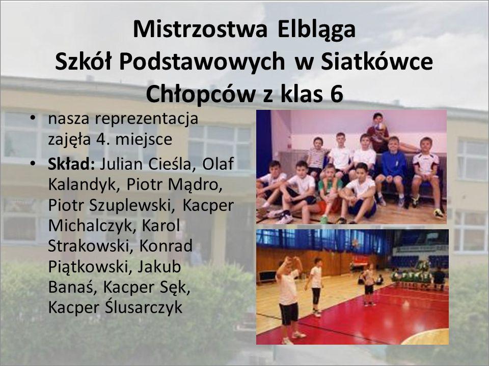 Mistrzostwa Elbląga Szkół Podstawowych w Siatkówce Chłopców z klas 6