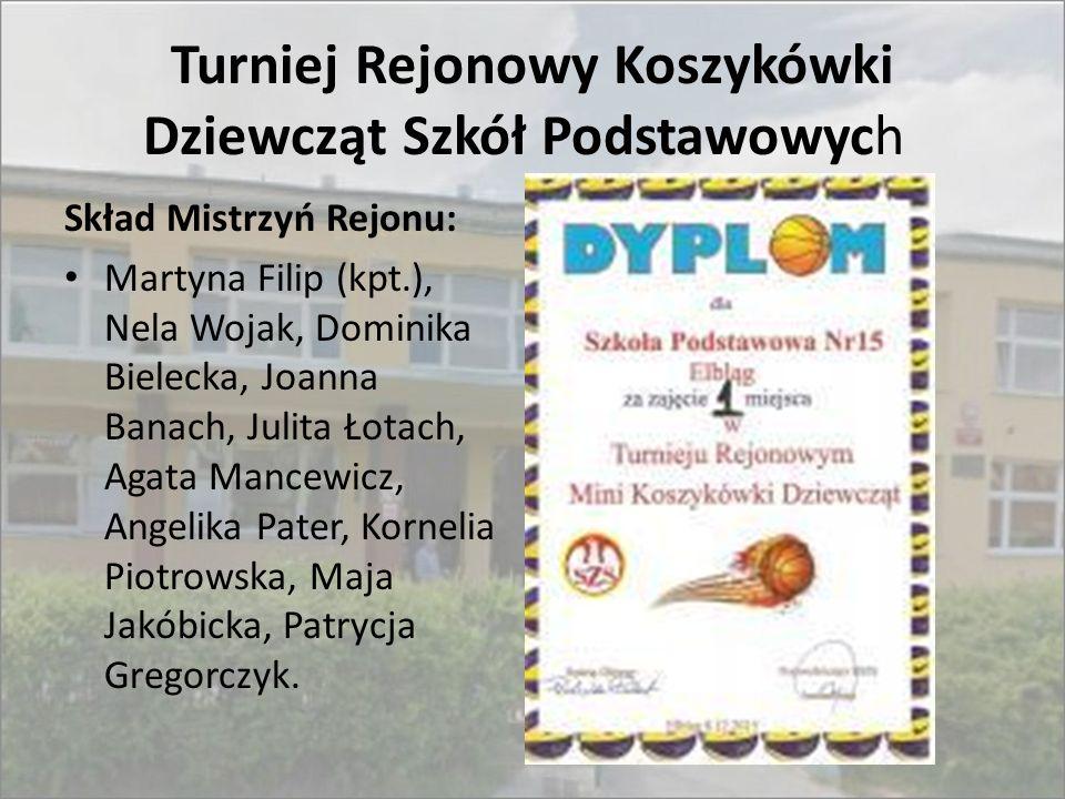 Turniej Rejonowy Koszykówki Dziewcząt Szkół Podstawowych