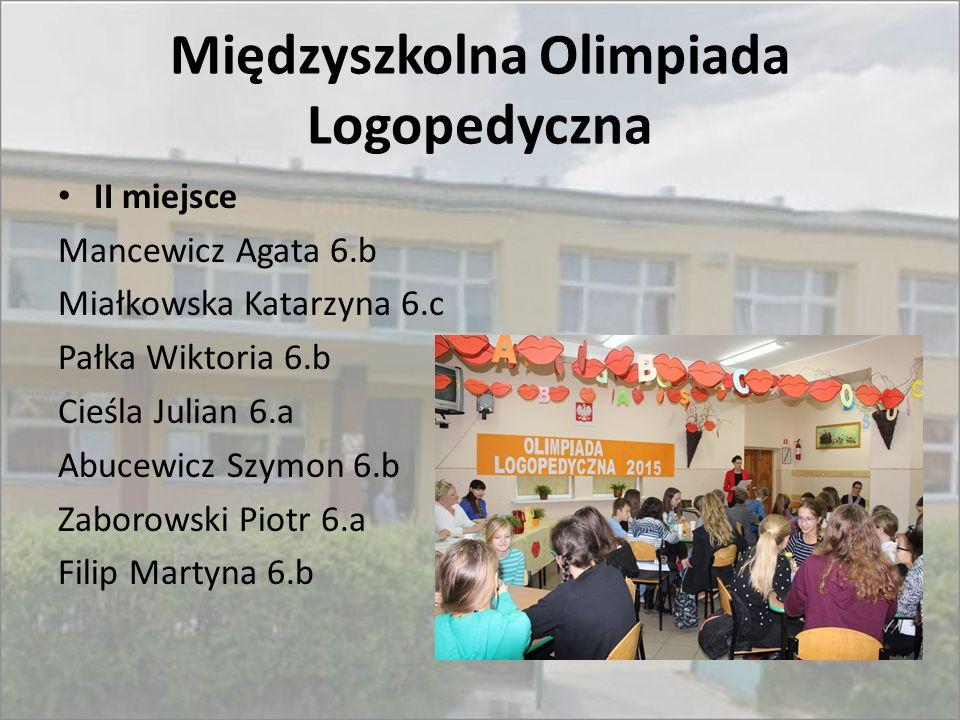 Międzyszkolna Olimpiada Logopedyczna