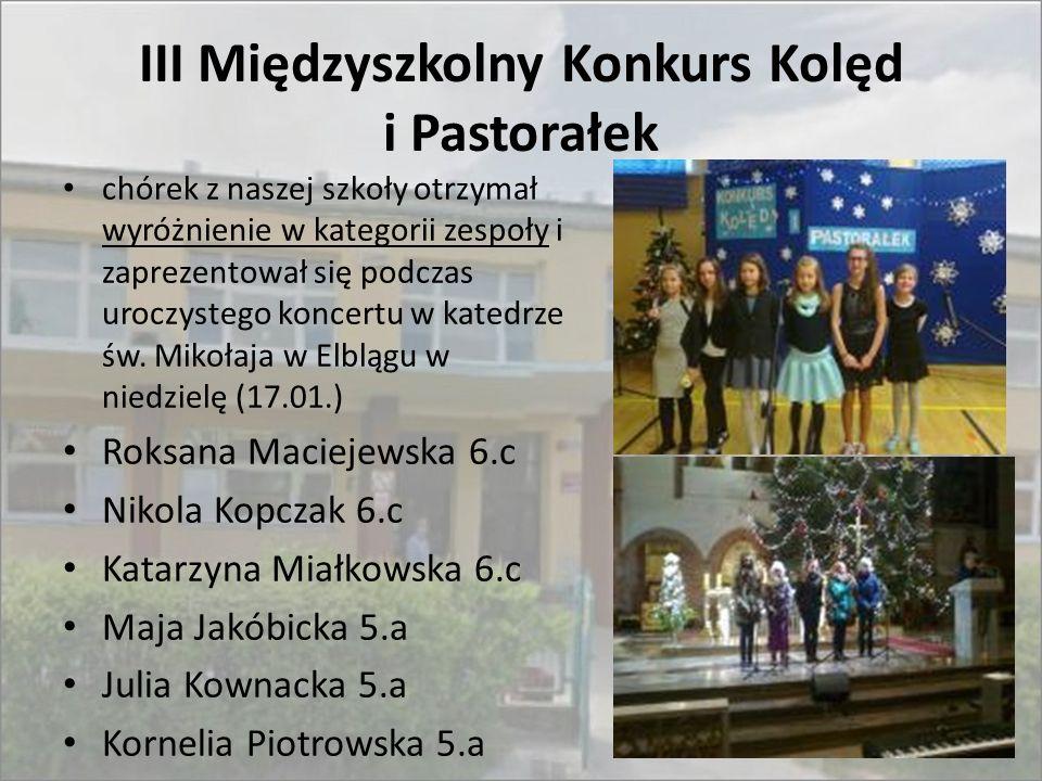 III Międzyszkolny Konkurs Kolęd i Pastorałek