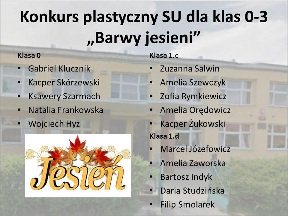 """Konkurs plastyczny SU dla klas 0-3 """"Barwy jesieni"""