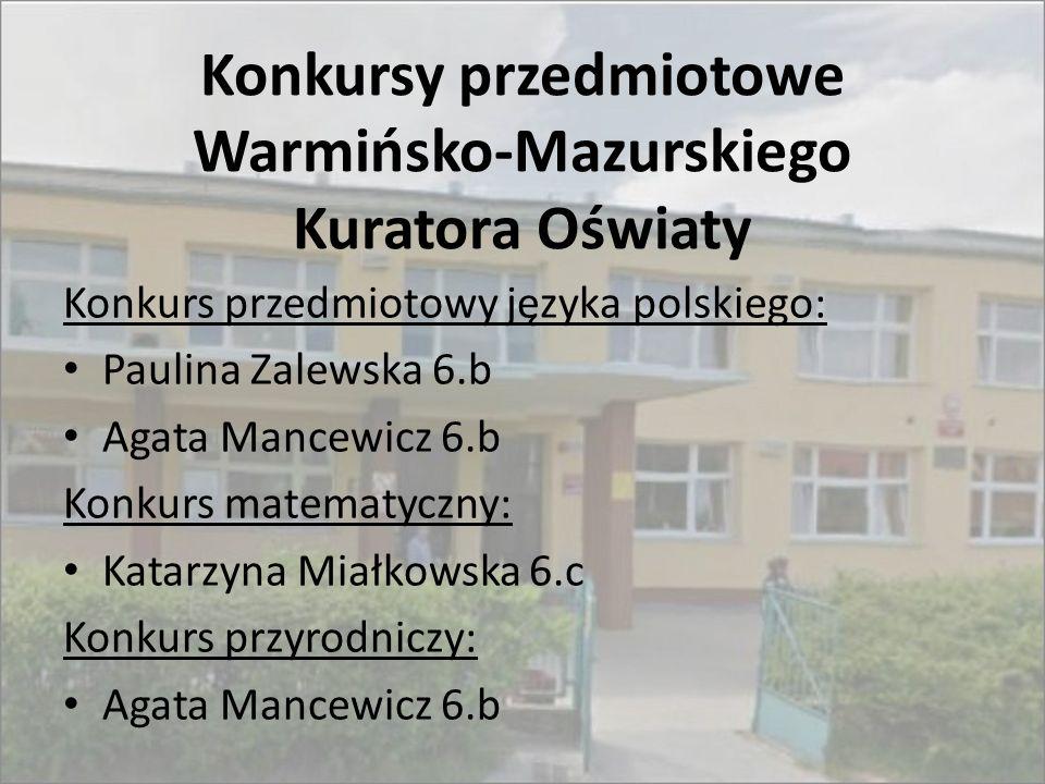 Konkursy przedmiotowe Warmińsko-Mazurskiego Kuratora Oświaty