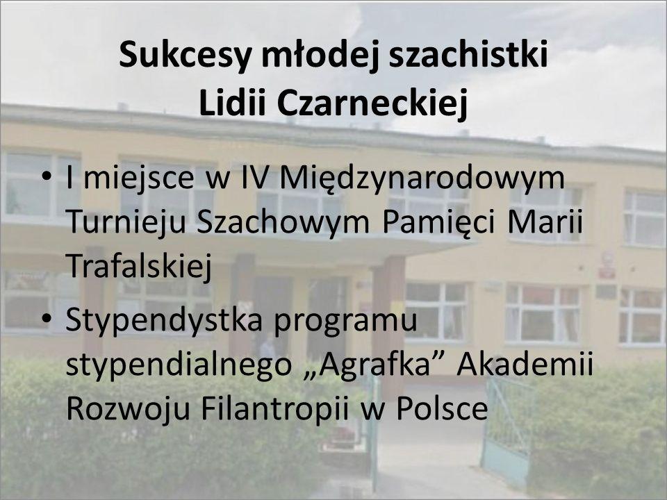 Sukcesy młodej szachistki Lidii Czarneckiej