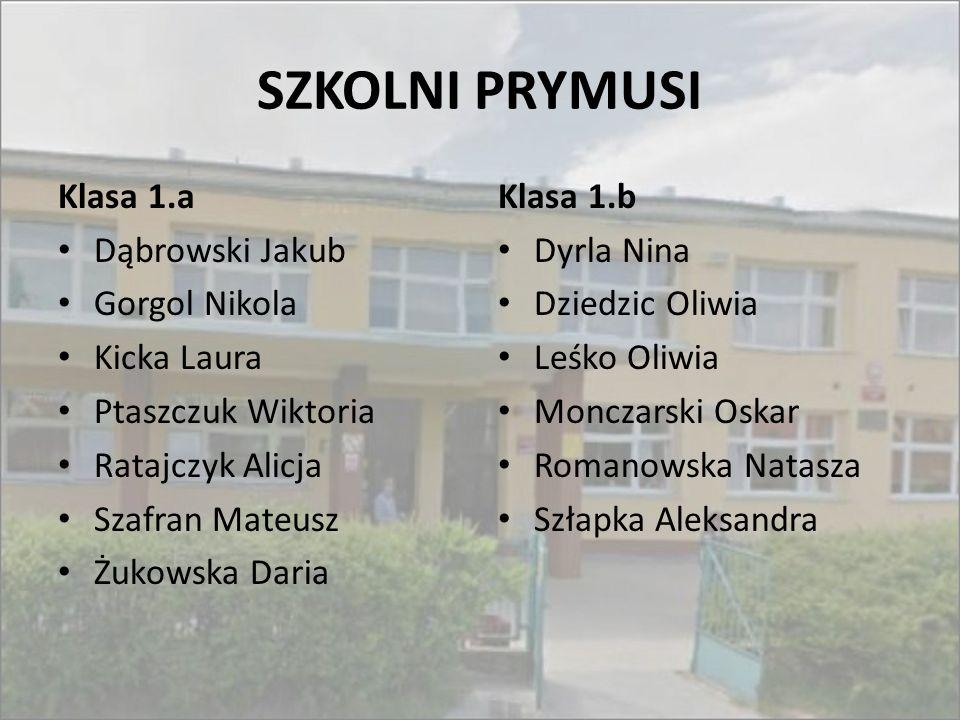 SZKOLNI PRYMUSI Klasa 1.a Dąbrowski Jakub Gorgol Nikola Kicka Laura