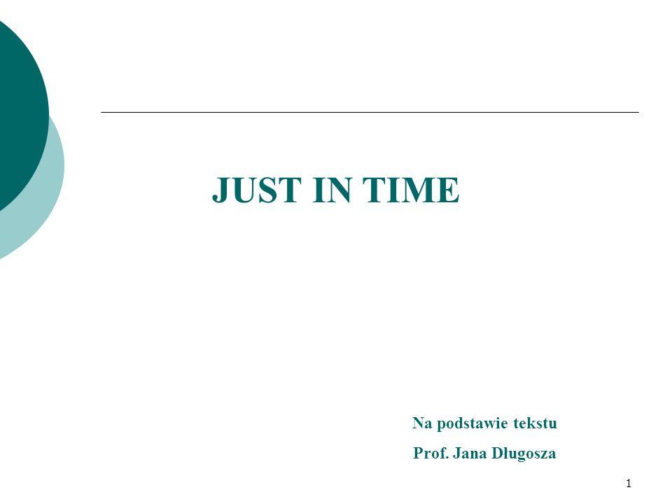 JUST IN TIME Na podstawie tekstu Prof. Jana Długosza