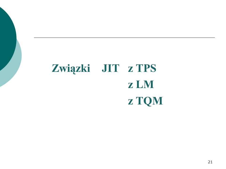 Związki JIT z TPS z LM z TQM