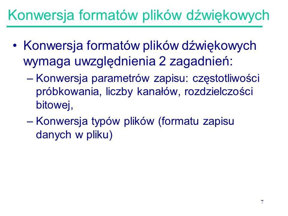 Konwersja formatów plików dźwiękowych