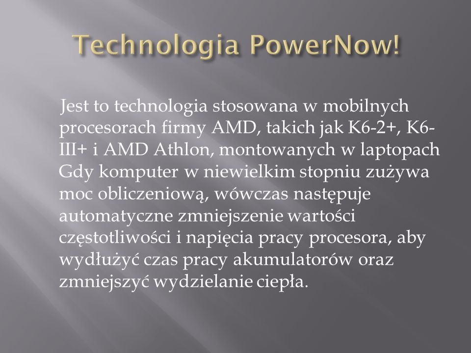 Technologia PowerNow!