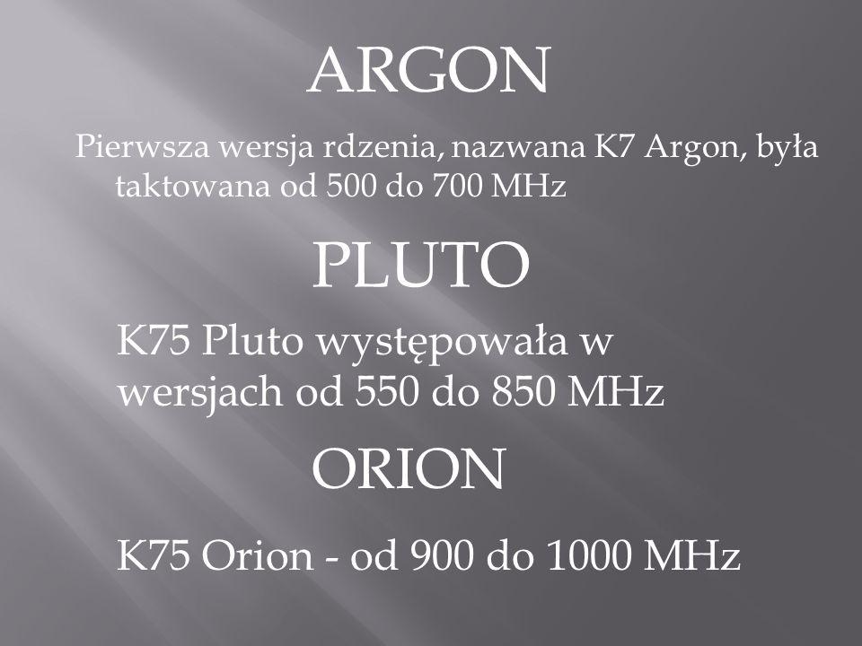 ARGON PLUTO ORION K75 Pluto występowała w wersjach od 550 do 850 MHz