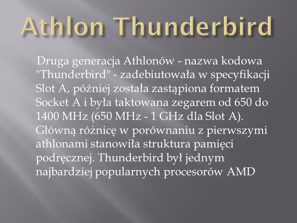 Athlon Thunderbird