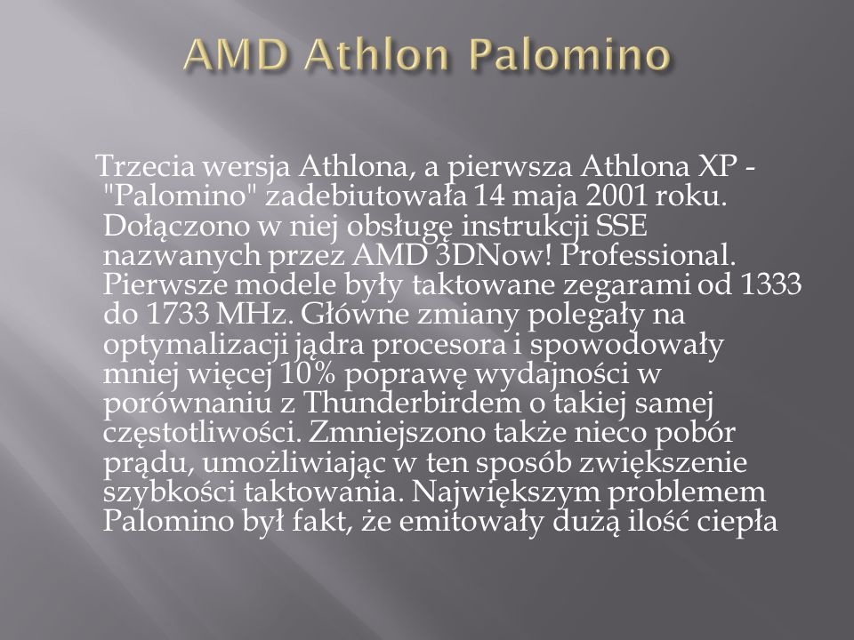 AMD Athlon Palomino