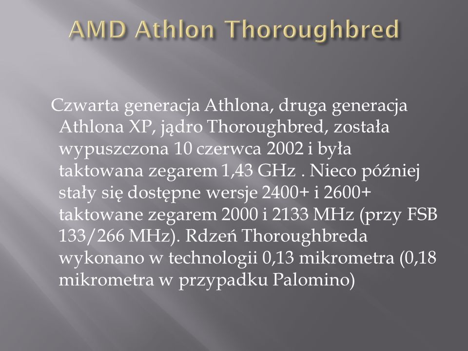 AMD Athlon Thoroughbred