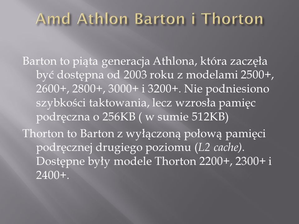 Amd Athlon Barton i Thorton