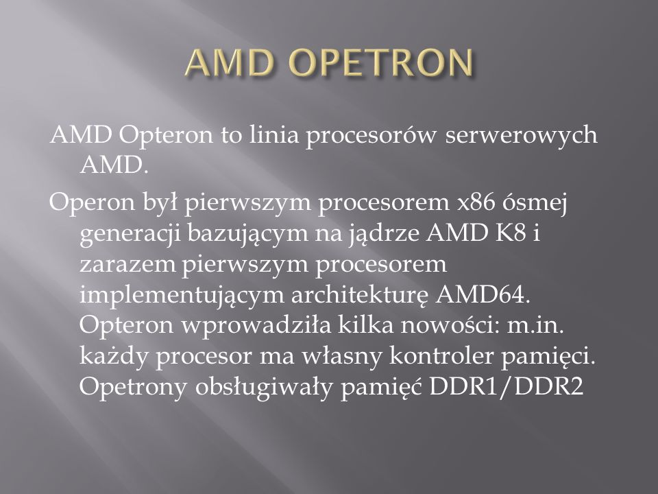 AMD OPETRON