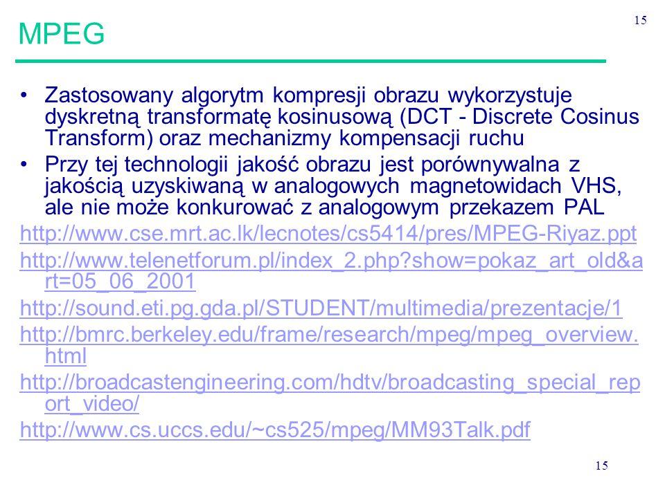 MPEG 15.