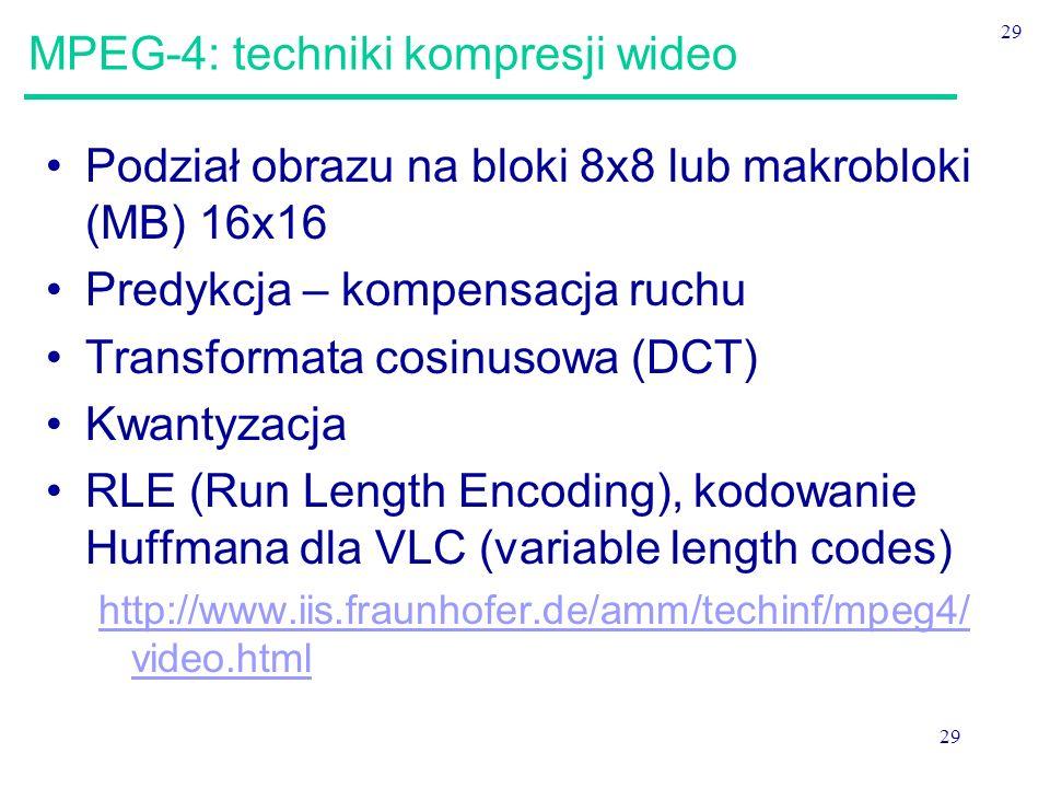 MPEG-4: techniki kompresji wideo