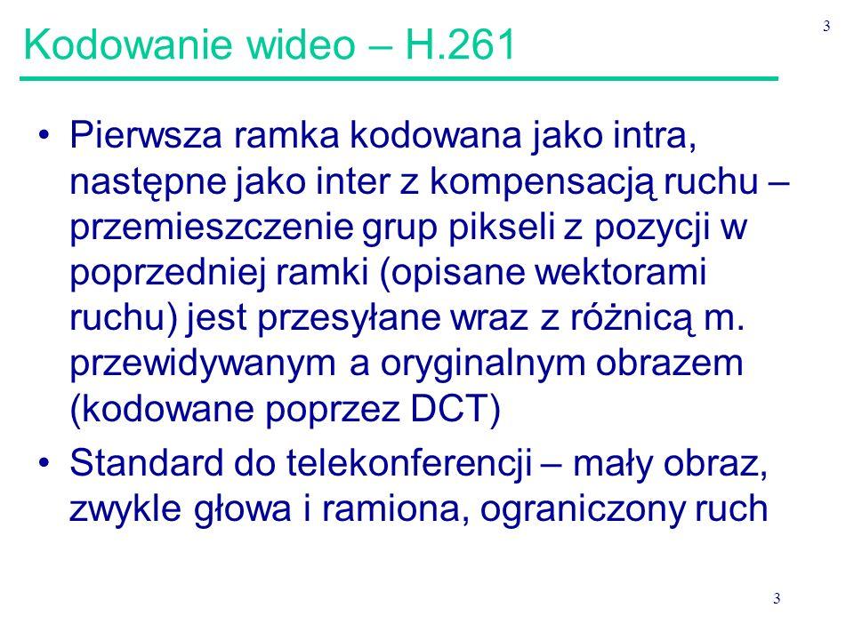 Kodowanie wideo – H.261 3.