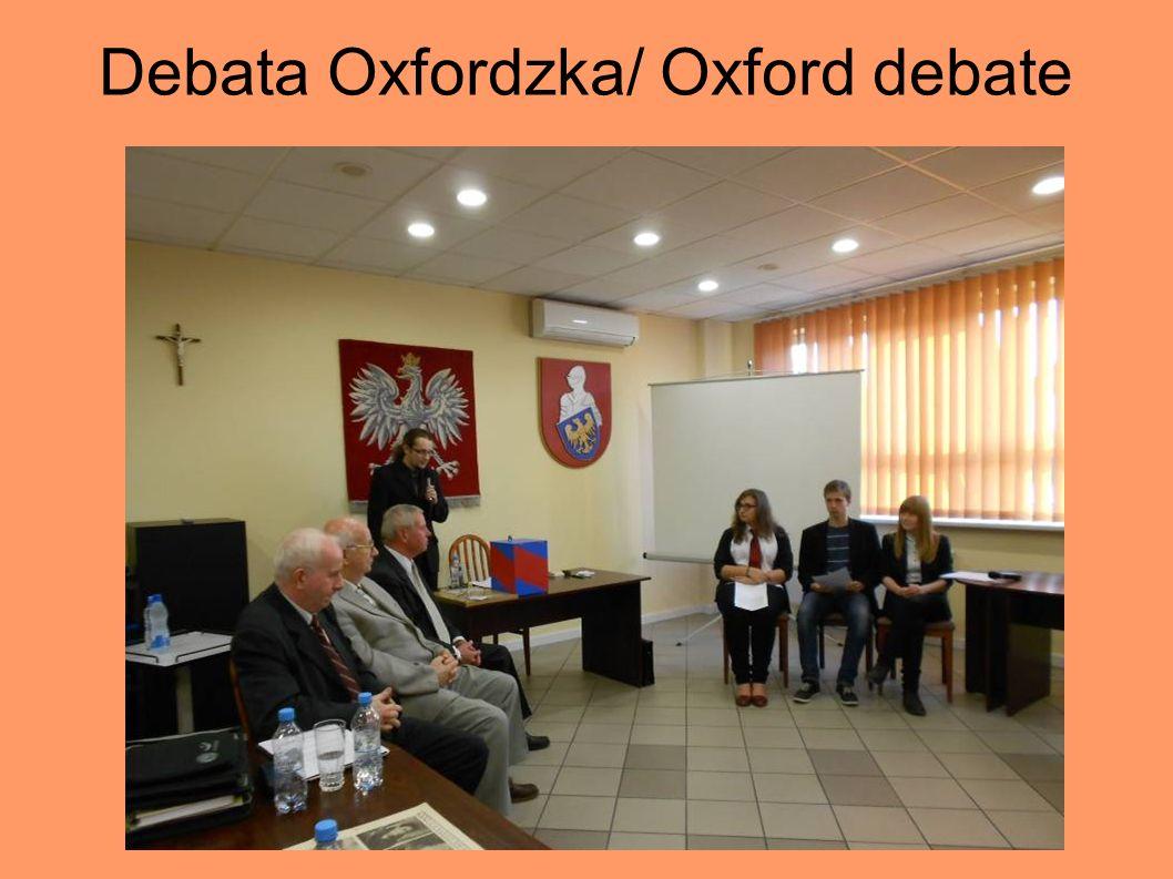 Debata Oxfordzka/ Oxford debate