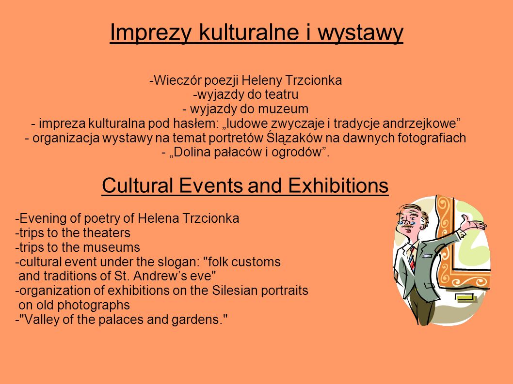Imprezy kulturalne i wystawy