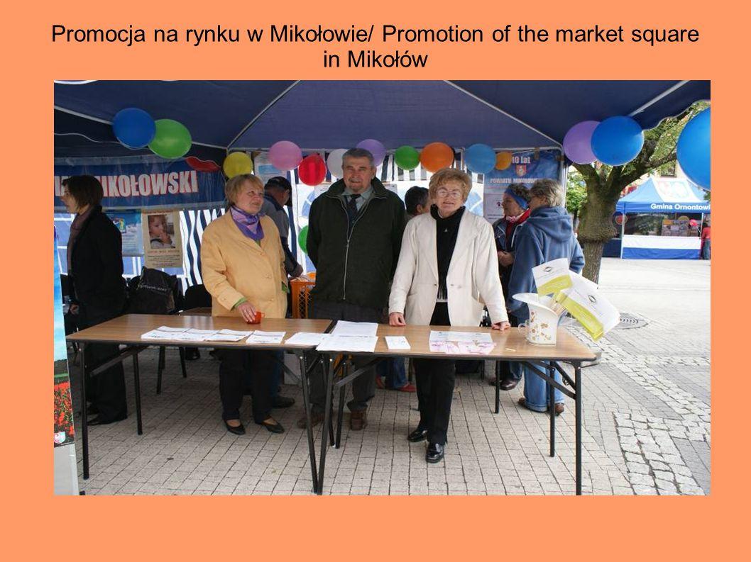 Promocja na rynku w Mikołowie/ Promotion of the market square in Mikołów