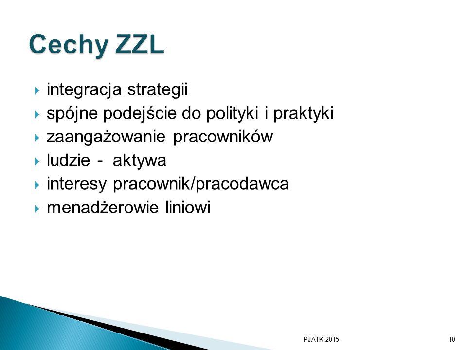 Cechy ZZL integracja strategii spójne podejście do polityki i praktyki