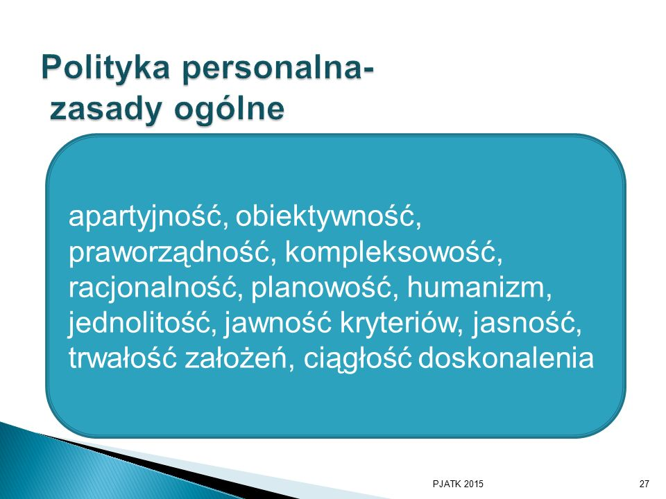 Polityka personalna- zasady ogólne