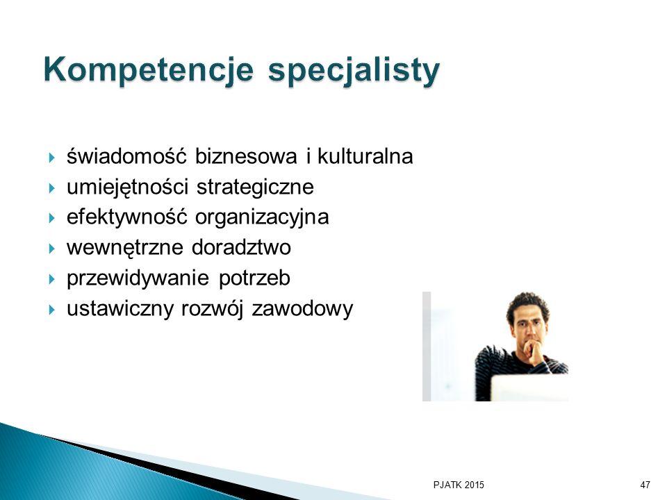 Kompetencje specjalisty