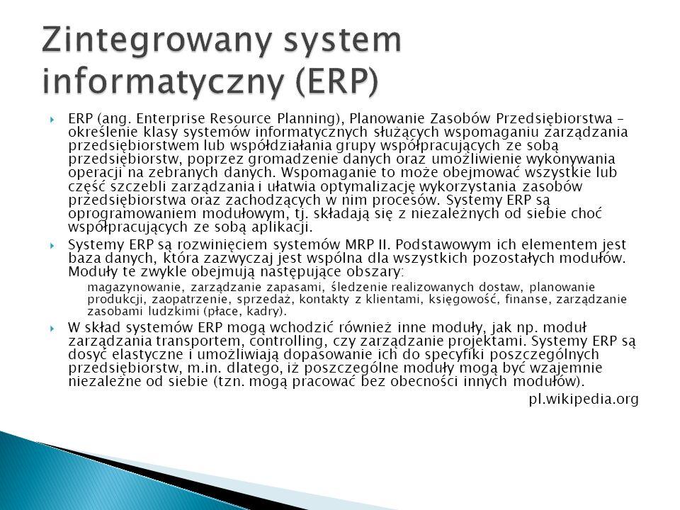 Zintegrowany system informatyczny (ERP)